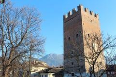 Vanga Tower in Trento, Italy. Popular touristic european destination. Trento city view Royalty Free Stock Photo