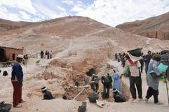 Vangata archeologica, valle dei re, Egitto fotografia stock libera da diritti