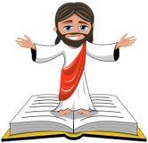 Vangelo di Jesus Christ Open Hands Bible isolato Royalty Illustrazione gratis