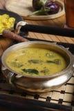 Vangi Dal or eggplant / brinjal dal curry Stock Photo