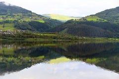 Vangsvatnet mirror lake in Voss. Royalty Free Stock Photography