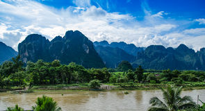 Vangvieng,Laos landscape. Asian urban landscape,Vangvieng, Laos Stock Image