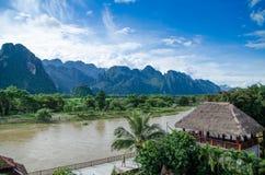Vangvieng,Laos landscape Stock Image