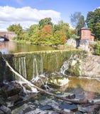 Vanhankaupunginkoski - waterfall on Vantaanjoki River in Old Tow Stock Image