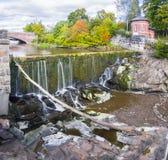 Vanhankaupunginkoski - waterfall on Vantaanjoki River in Old Tow Royalty Free Stock Photo