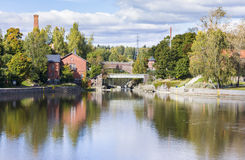 Vanhankaupunginkoski - waterfall on Vantaanjoki River in Old Tow Stock Images