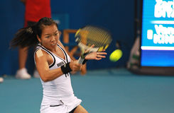 Vania King in action at the 2010 China Open Stock Photography