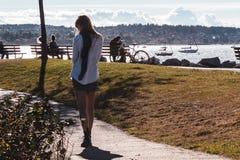 Vanier Park near Kitsilano Beach in Vancouver, Canada Royalty Free Stock Photos