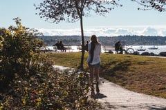 Vanier Park near Kitsilano Beach in Vancouver, Canada Stock Photo