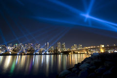 Vanier vectorial light show  -Vancouver, Canada Stock Photos