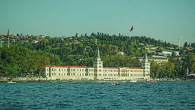 Vanikoy Mahallesi Muhtarligi. View of Vanikoy Mahallesi Muhtarligi sailing Bosphorus stock video footage