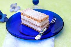 Vanilia creamy cake Stock Images