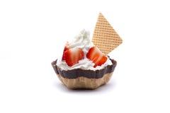 vanilj för is för chokladkakamat söt Arkivfoto