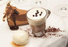 vanilj för is för kakaoostkakakräm varm Arkivbild