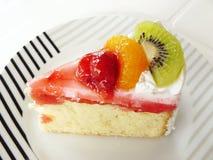 vanilj för fruktkakakräm Royaltyfri Bild