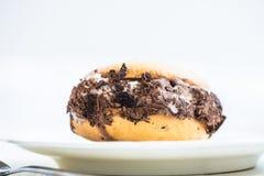 Vanilj- och chokladglasssmörgås Arkivfoto