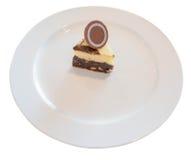 Vanilj- och chokladkaka med muttern Royaltyfri Foto