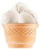 Vaniljglassbollar i dillandekopp. Royaltyfria Bilder