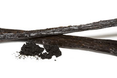 Vanilla. Sticks with seeds isolated Royalty Free Stock Image