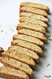 Vanilla Almond Biscotti Cookie Stock Images