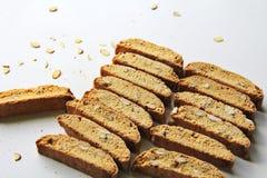 Vanilla Almond Biscotti Cookies Stock Image