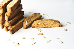 Vanilla almond biscotti Stock Images