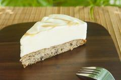 Vanilla and Banana Bread Ice Cream Cake Royalty Free Stock Image