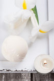 Vanilla bath bomb closeup Stock Photography