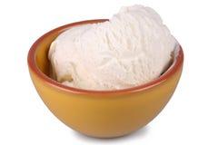 Vanilla Bean Ice Cream. Shot of a bowl of vanilla bean ice cream isolated over white Stock Photos