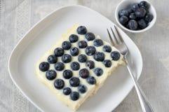 Vanilla Blueberry Cake Stock Images