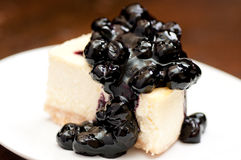 Vanilla blueberry cheesecake Royalty Free Stock Photos