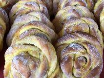 Vanilla buns, Saffransbullar med vanilj royalty free stock photo