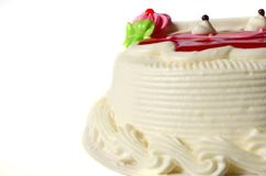 Vanilla cake. Isolate on white background Royalty Free Stock Photography