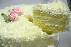 Vanilla cake Stock Photography