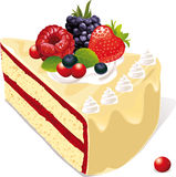 Vanilla cake with berries Royalty Free Stock Images