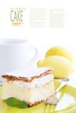 Vanilla  cake dessert Stock Photography