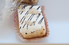 Vanilla cake dessert Stock Image