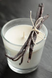 Vanilla candle Stock Images