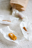 Vanilla caramel candies Royalty Free Stock Photography