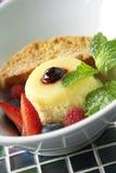 Vanilla cheese custard and mixed berry Stock Image