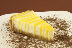 Vanilla cheesecake Royalty Free Stock Photos