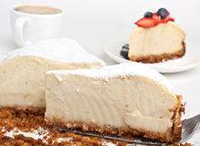 Vanilla Cheesecake Royalty Free Stock Images