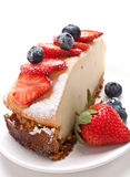 Vanilla cheesecake with berries Royalty Free Stock Image