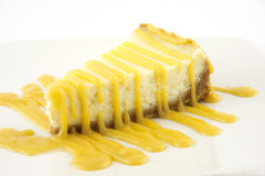 Vanilla cheesecake with egg-cream liqueur Royalty Free Stock Photo