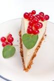 Vanilla cheesecake Slice Stock Photo
