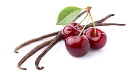 Vanilla with cherry Royalty Free Stock Photography