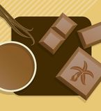 Vanilla chocolate. Royalty Free Stock Photo