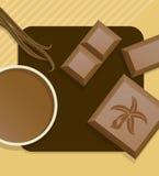 Vanilla chocolate. stock illustration