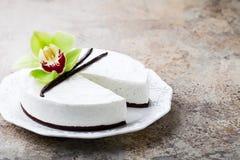 Vanilla and chocolate cheesecake Stock Photography