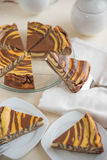 Vanilla and Chocolate Cheesecake Stock Images